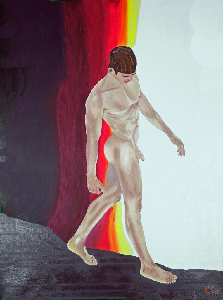 Contemporary art Stuttgart Karlo Grados nude painting modern art exhibition