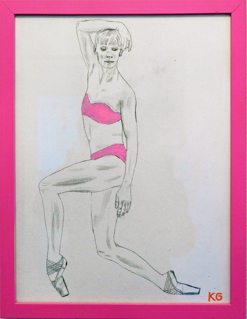 Contemporary art Stuttgart Karlo Grados pencil work from Alicia Amatriain Stuttgarter Ballett