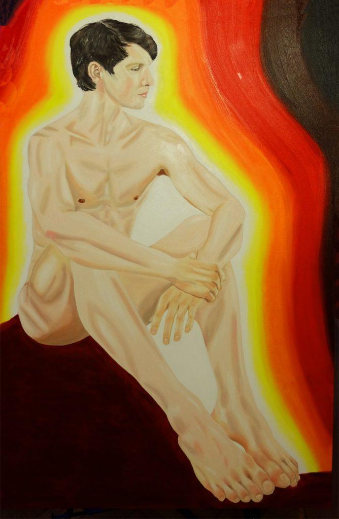 Contemporary art Stuttgart Karlo Grados Ballett dancer David Moore oil painting