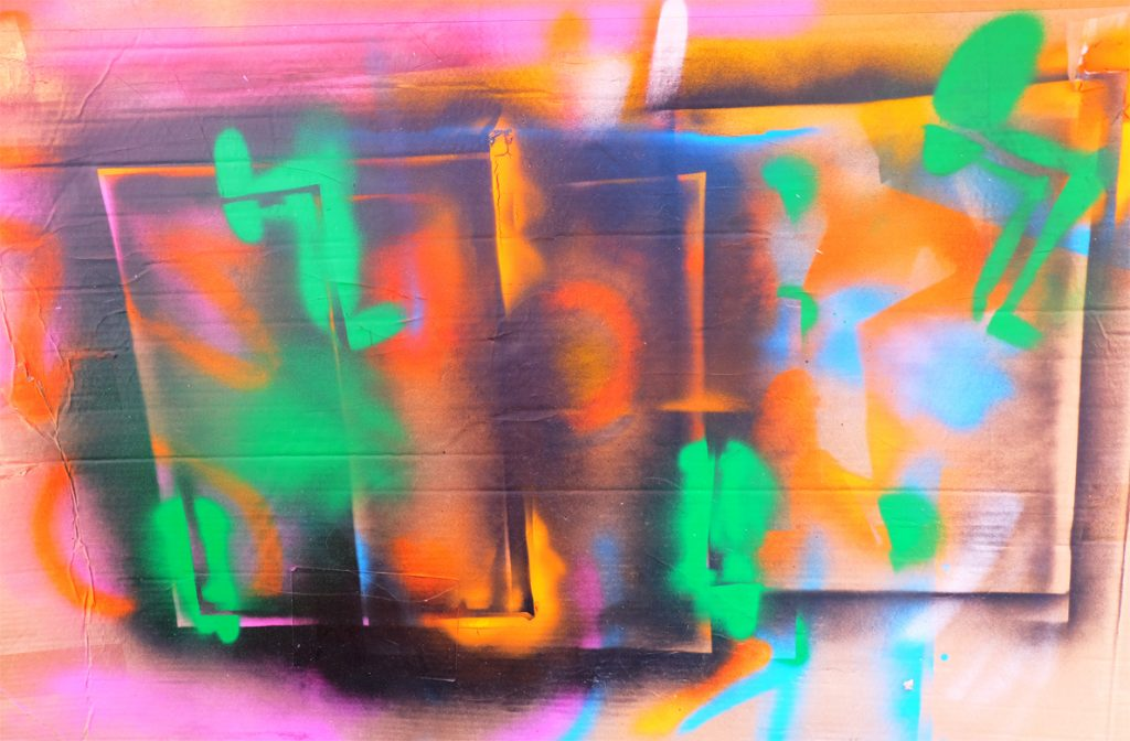 Contemporary art Stuttgart Karlo Grados abstract lack modern art