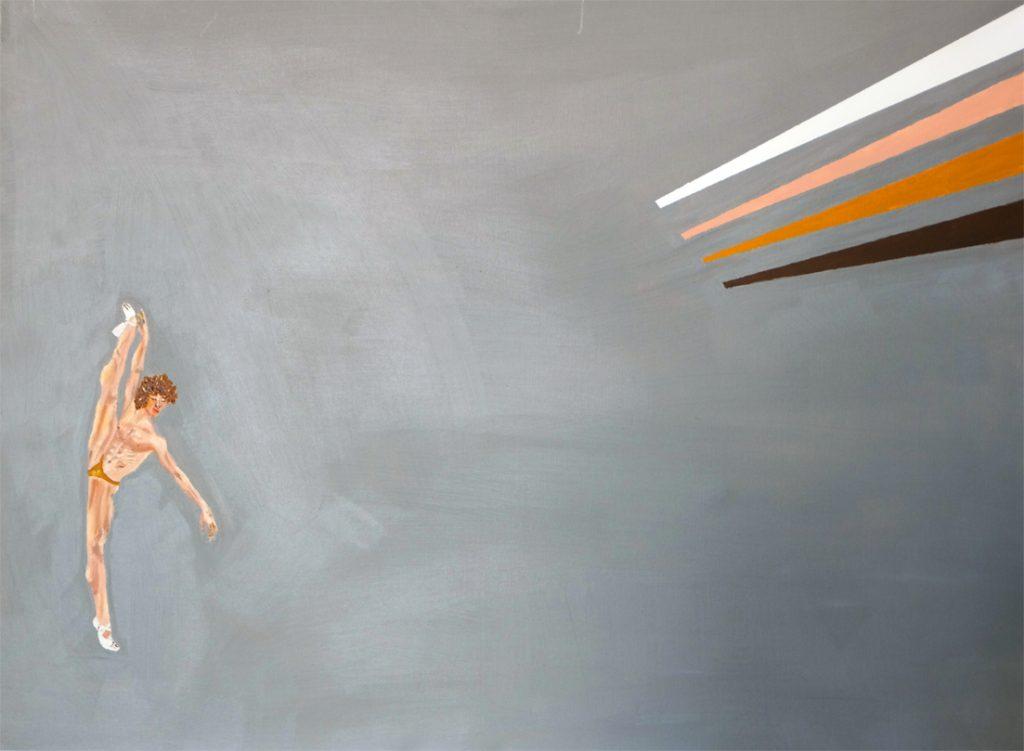 Contemporary art Stuttgart Karlo Grados Gallery oil painting El Baletista