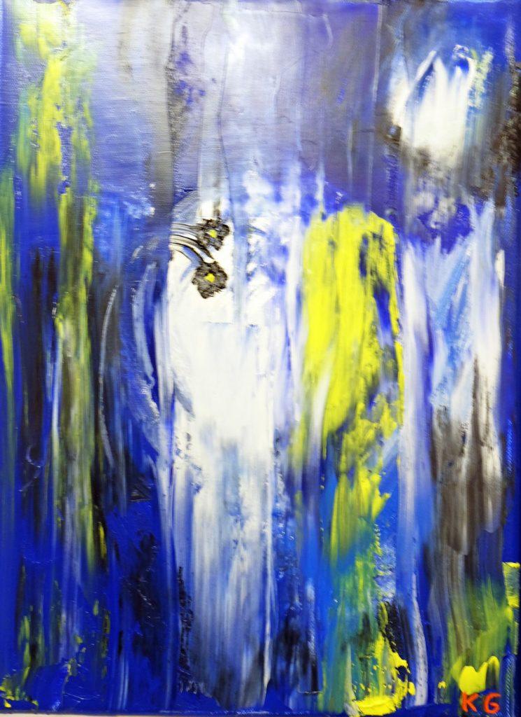 Contemporary art Karlo Grados Stuttgart Abstract oil painting