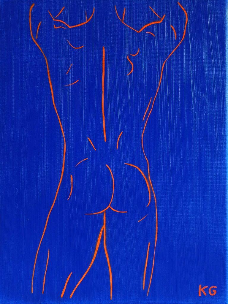 Contemporary art Stuttgart Karlo Grados Germany nude men self portrait