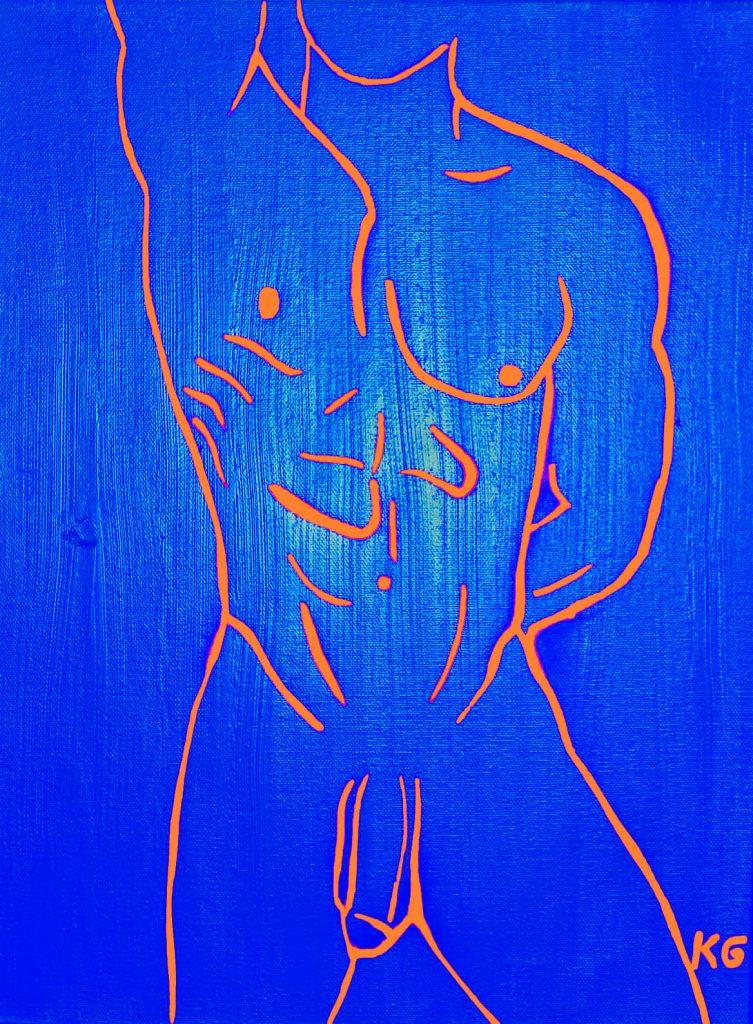 Contemporary art Stuttgart Karlo Grados Galerie Ballett dancer oil painting Germany nude men