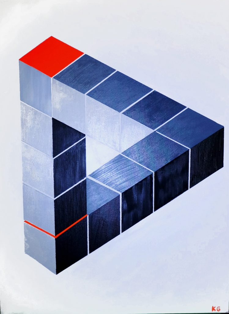 Contemporary art Stuttgart Karlo Grados Germany geometric figures modern art