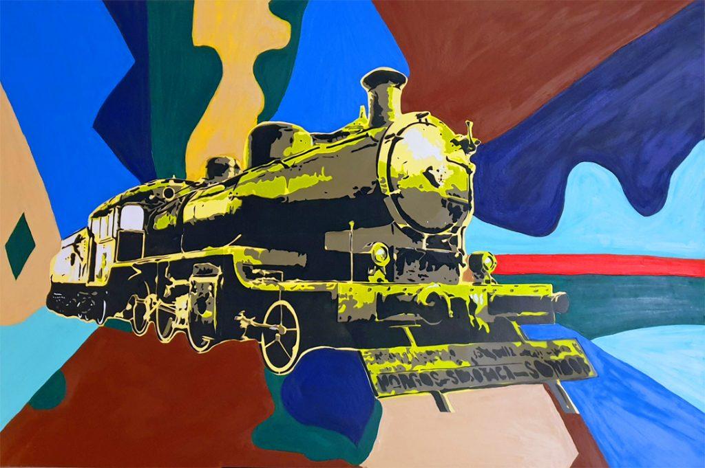Contemporary art Stuttgart Karlo Grados oil painting germany